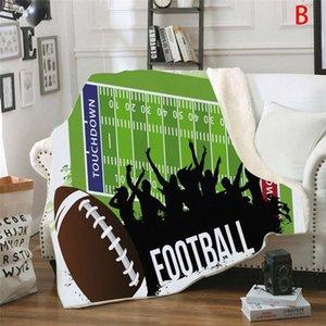 Duplo Grosso Esporte Futebol Home Decor Área tapete da sala bedroom Kitchen Mat cobertores para camas Inverno 2020 v6xk #