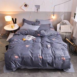 New Bedding Set Queen King Size Fashion Quilt Cover Pillowcase Flat Bed Linen Sheet Kit Cartoon Kids Bedsheet Bedroom Supplies