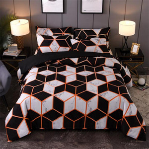 2020 Hot-selling Bedding Sets 3 Pcs Bed Suit Modern Geometric Duvet Cover High Quality Designer Bedding Supplies