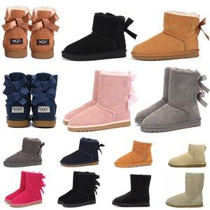 UGG BOOTS UGGs 새로운 여자 스노우 부츠 패션 호주 겨울 부츠 클래식 발목 무릎 높은 여자 여자 트레이너 운동화 모피 플랫폼 신발