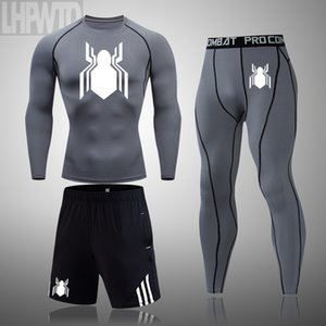 compression sports suit 4xl tights for t-shirts Men's fitness set underwear men's running suit brand rash guard