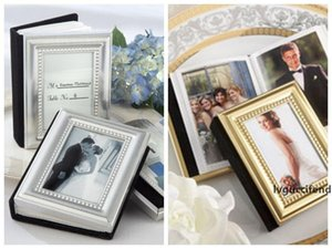 (50 pieces lot) Gold Wedding card Holder and Mini Photo For wedding Gifts and return gift Photo Frame holder