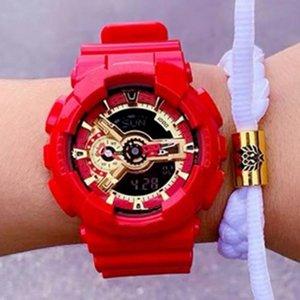 마블 영웅 남성 스포츠 시계 G 스타일 쇼크 시계 좋은 선물 모든 기능 작동 LED 디지털 시계 마블 한정판 크로노 그래프 손목
