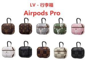 Designer 3 étuis de protection pour Apple AirPod Pro PU Cover Mode Anti Perdu Crochet porte-clés pour fermoir AirPod Livraison gratuite Case