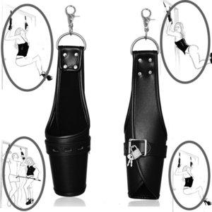 Leather Wrist Suspension Cuffs Restraint,BDSM Bondage Strap,Keep Suspended Handcuffs,Adult Costume Sex Toys Y200616