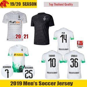 19 20 Borussia Mönchengladbach Fußball Trikots PLEA 2019 2020 Mönchengladbach THURAM Fußball Trikot BENSEBAINI HERRMANN EMBOLO Fußball Trikot