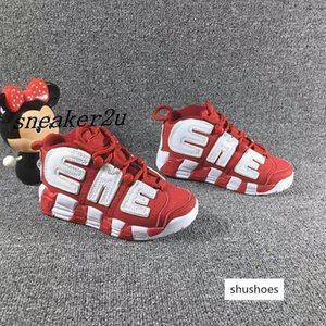 arrival Kids big airs basketball Shoes Childrens Pippen Uptempo Sports Shoes boys girls size 11C-3Y