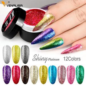 2020 Newest Nail Art Semi Permanent UV Lacquer Hybrid Glitter Platinum Nail Polish Gel Enamel Varnish Lacquer UV Gel