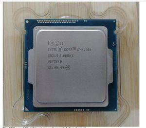 100% Genuine Intel Core i7 4790K 4790 4.0GHz Quad-Core 8MB de cache Com gráfica HD 4600 TDP 88W desktop LGA Processor 1150 CPU Usado Testado