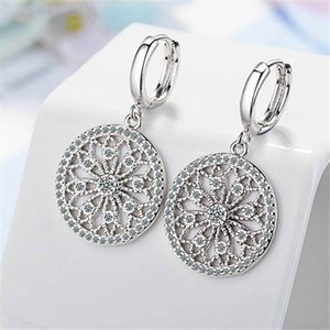 Hoop Earrings Stainless Steel Fashion Jewelry For Women Party Drop Earring Cubic Zirconia Accessories Gives GirlFriend's Gift 264