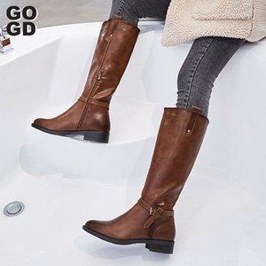 [GOGD]Winter Boots Women string Bead Bling Boots Women's Zipper Wedge Motorcycle