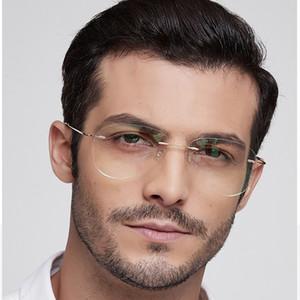 Titanium Rimless Pilot Fashion Designer Eyeglasses Optical Glasses Frame Men and Women Eyewear Lightweight Flexible Spectacle