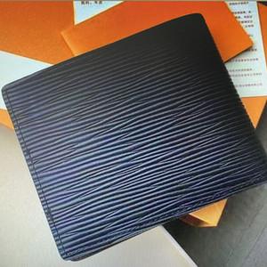 M60332 N63263 N62663 N63263 N62663 Ince Birden Çok Erkekler Kısa Cüzdan Mono Tuval Bifold Cep Para Kart Tutucu Kılıfı Çantalar Moda Deri Küçük Cüzdan