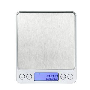 Digitale Küchenwaage Mini-Tasche Präzision in Edelstahl Schmuck Gewicht-Balance 3000g / 0.1g 500g / 0,01 g JK2005XB