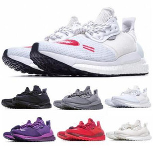 Acheter solaire Hu Glide humaine Made Greyscale Pharrell est maintenant PRD son temps Green Pack Ultraboost Hommes Femmes Tenis Formateurs Courir Sneakers Chaussures