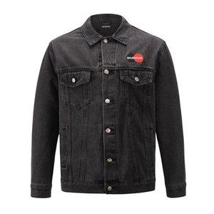 hot 2020 Mens Designer Denim Jacket Men Women High Quality Casual Coats Black Blue Fashion Mens Jacket Stylist Outwear Size s-XL