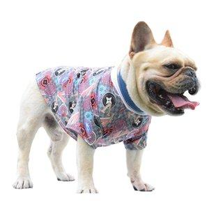 Moda artı boyutu Boş köpek gömlek Sokak stili evcil köpek giysileri boyutlu baskı nefes örgü yaz pet giysi küçük köpekler Kızarmış