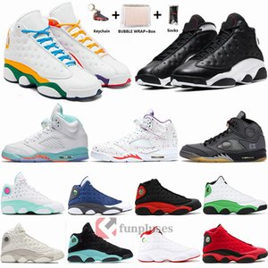 Nike Air Jordan Retro 13 Zona de juegos con Box 13 Zapatillas de baloncesto para hombre 13s Jumpman Flint CNY Island Green Bred Outdoor Sneakers XIII 5s Wings Shaping Easter
