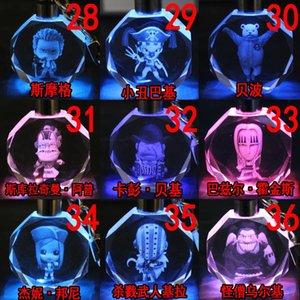 UN PEZZO Catene Boa Hancock Anime chiave LED figura di cristallo giocattolo portachiavi regalo di natale Keychain Light Portachiavi Unisex NUOVO