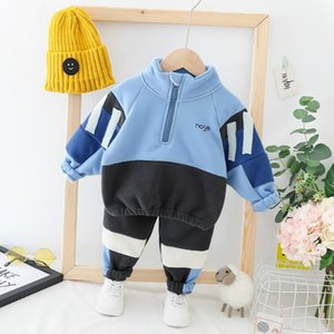 HYLKIDHUOSE 2020 Autumn Baby Girls Boys Clothing Sets Infant Plush Warm Clothes Suits Tops Pants Casual Children Kids Costume