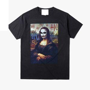 2019 T-shirt engraçados Mona Lisa Joker Homens printe Shirts Hip Hop Verão T Shirt Cotton Streetwear cobre T Plus Size 3xl