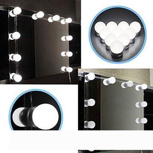 Hollywood Style Led Vanity Specchio Specchio Kit con lampadine dimmerabili, striscia di apparecchio di illuminazione per il set da tavola di vanità di trucco
