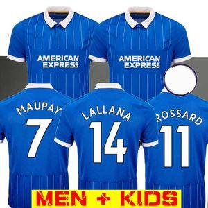 MEN + KIDS (20) (21) 알비온 파란색 축구 유니폼 2020 21 덩크 턴 알비온 Maupay 코놀리 Trossard LALLANA 저지 유니폼 축구 셔츠