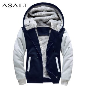 ASALI Bomber Jacket Men 2020 New Brand Winter Thick Warm Fleece Zipper Coat for Mens SportWear Tracksuit Male European Hoodies CX200723