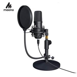 Maoño USB Kit Microphone Podcast professionnel en continu Microphone à condensateur studio Micro pour ordinateur YouTube Gaming Enregistrement T191021