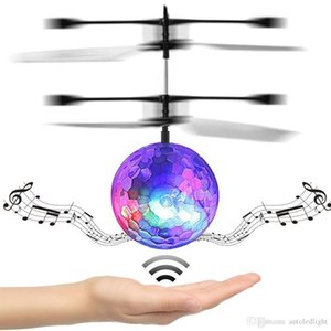 RC Flying Ball Luminous Kid's Flight Balls Electronic Infrared Induction Aircraft Remote Control Toys LED Light Mini Helicopter Childre