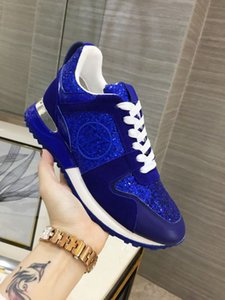 Ting2594 406605 With Sequined Casual Shoes - Blue Sneakers Dress Shoes Skate Dance Ballerina Flats Loafers Espadrilles Wedges