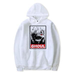Tokio Ghoul capucha de gran tamaño camiseta de los hombres / de las mujeres Anime japonés Tokio Ghoul Kaneki Ken Cosplay Harajuku sudaderas Ropa de abrigo