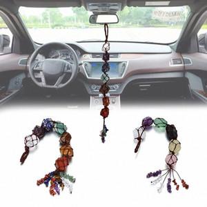 7 Chakra pietra naturale veicoli sospesi finestra del veicolo Ornament Spiritual Meditation casa decora Auto Accessori Interni Car Dashboard Fhm8 #
