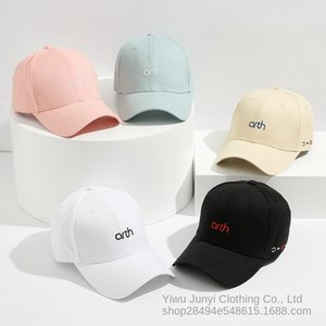 Korean style letter embroidery fashionable and simple baseball Embroidered baseball cap student cap all-match couple hat