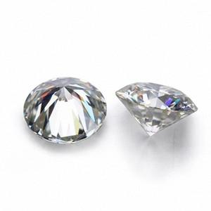 D Blanco Color de VVS forma redonda suelta sintético Moissanite diamante 0.6CT a 2CT Excelente Cut1 5oQP #