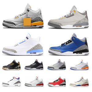 Nike Air Jordan Retro 3 3s barato Hydro Wholesale New Free Throw Line burst cemento zapatos de baloncesto Sneaker para hombre zapatos de calidad superior envío gratis EE. UU. 8-13