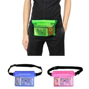 ماء الخصر حقيبة شفافة الحقيبة PVC غرزة تحت الماء سفر 3 طبقة يختم الجيب في الهواء الطلق الانجراف حزمة سباحة الخصر حزام حقيبة