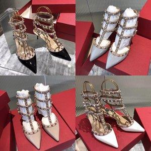2020 Sandalet Kadınlar Soğuk Sandal Çizme Roma Deri Diz Yüksek Boots Kadınlar Flats Elastik Boots Perçinler Sandalia Feminina # 620