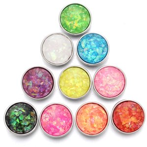 10pcs lot 2018 New Colourful Shinny 18mm Snap Buttons Jewelry Ginger Snaps Charm Fit 18mm 20mm Snap Bracelet Button Jewelry