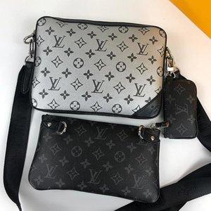 New Riefsaw Couro Mens Bag Vintage Designer Bags Bandoleira Tendência sacos de ombro Zipper Wallet bolsas Men Messenger Bag Sac Bandouli ERE