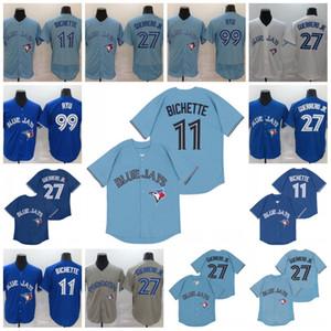 Blue Jays 2020 11 Bo Bichette Jersey 27 Vladimir Guerrero Jr. 99 Hyun-Jin Ryu Tutto cucito Toronto baseball maglie S-XXXL