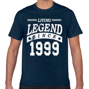 Tops T Shirt Men happy birthday men women 1999 Sexy Vintage Geek Cotton Male Tshirt XXX
