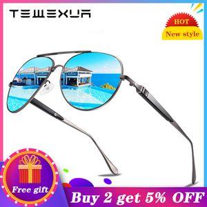 TEWEXUA 2020 Brand Pilot style Polarized fashion Men women Sunglasses UV400 Protection Sunglasses male driving eyewear