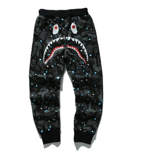 2018 New Teenager Hip Hop Personality Shark Mouth Camouflage Printing Casual Pants Male Hip Hop Foot Sport Sweatpants Cargo Pants for Track