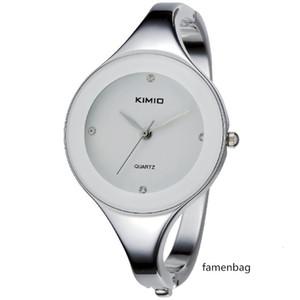 Kimio Ladies Stainless Steel Crystal Watch Elegant Round Dial Diamond Women Montre Femme Dropshipping Clock