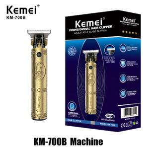 % 100 Orijinal Kemei KM-700B KM-700A Barber Shop Elektrikli Saç Kesme Profesyonel Saç Makinesi Sakal Giyotin Şarj edilebilir Kablosuz Aracı