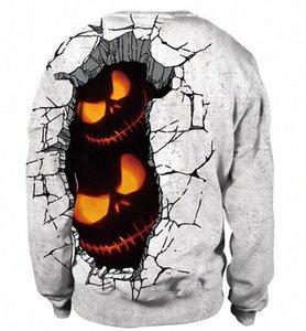 남성 여성 풀오버 스웨터 호박 머리 인쇄 Holloween 파티 의상 운동복 연인 재미 패턴 스웨터 최고 ojfy #