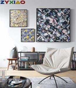 ZYXIAO Big Size Poster und Drucke Abstrakte Blumen morden Ölgemälde Leinwand No Frame Wandbilder für Wohnzimmer Hauptdekoration ys0042