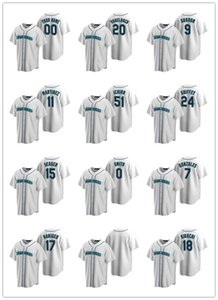 Seattle Mariners MEN WOMEN JUGEND 15 Kyle Seager 24 Ken Griffey Jr.2020 Startseite Baseball Jersey