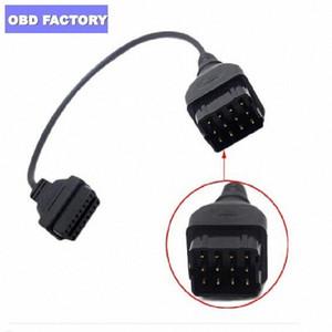 Para GAZ 12PIN Para 16pin OBD2 diagnóstico do carro Adapter Ferramenta Cabo Para GAZ 12 Pin Rússia Cars cabo adaptador e6lL #